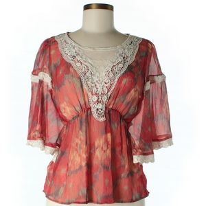 Free People Flowers & Lace Top